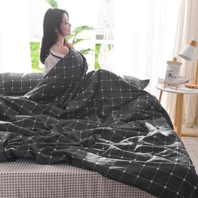 2019新款-可水洗棉印花【套件款】夏被 150*200cm 夏凉被 卡罗