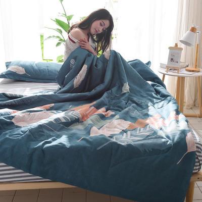 2019新款-可水洗棉印花【套件款】夏被 150*200cm 夏凉被 飘羽