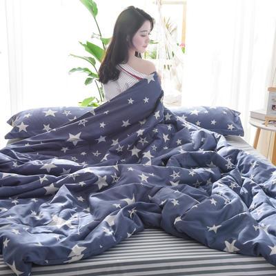 2019新款-可水洗棉印花【套件款】夏被 150*200cm 夏凉被 星海