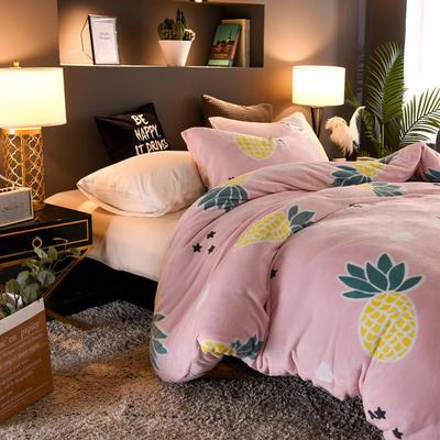 2019新款双面法莱绒活套款被子被芯冬被 150*200/4斤 菠萝时代
