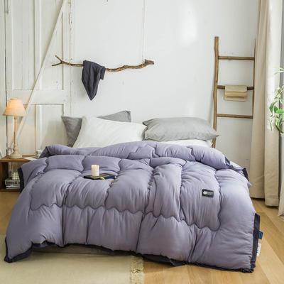 2019新款冬被系列     日系ins风北欧风马卡龙冬被 150*200/4斤 马卡龙-月光紫