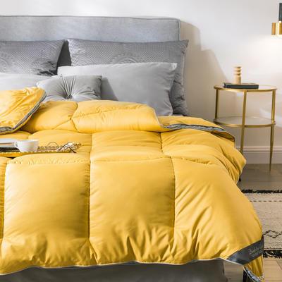 2019新款赛杜邦立体类羽绒冬被被子被芯 150*200/4斤 立体-黄