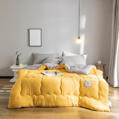 2019新款普洛温斯冬被被子被芯 200*230/8斤 温斯-柠檬黄