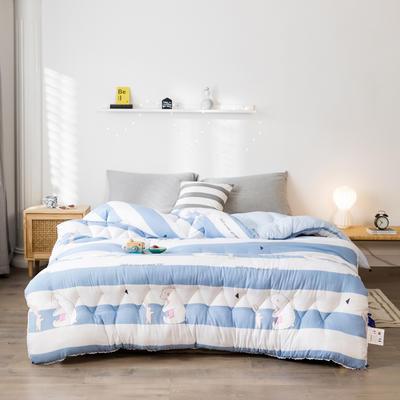 2019新款水洗棉印花冬被被子被芯 150*200/4斤 快樂伙伴