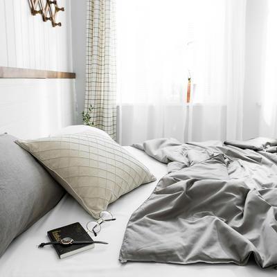 2020新款【棉主义】全棉被子夏凉被空调被白领名宿被 150x200cm 棉主义-苍灰