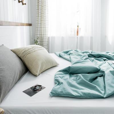 2020新款【棉主义】全棉被子夏凉被空调被白领名宿被 150x200cm 棉主义-茶绿