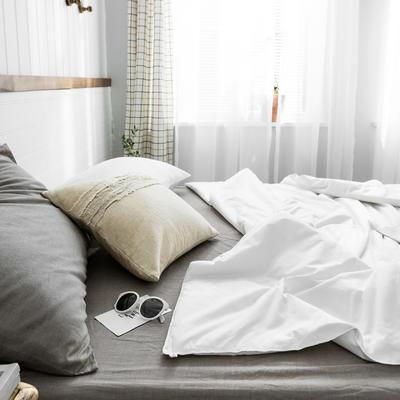 2020新款【棉主义】全棉被子夏凉被空调被白领名宿被 150x200cm 棉主义-纯白