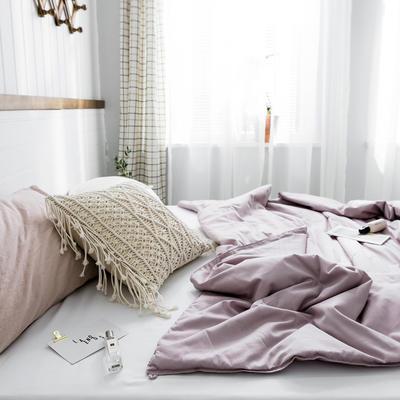 2020新款【棉主义】全棉被子夏凉被空调被白领名宿被 150x200cm 棉主义-栗紫