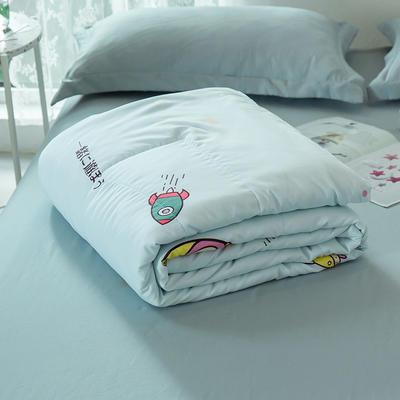 2020新款水洗棉印花夏凉被夏被空调被学生宿舍被名宿被 150*200cm 爱上老鼠