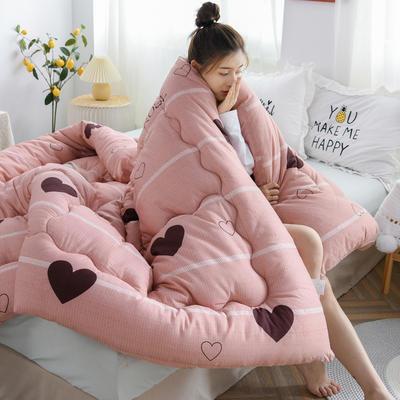2020秋冬新品仿棉冬被被子被芯 150*200cm重3斤 粉红甜心