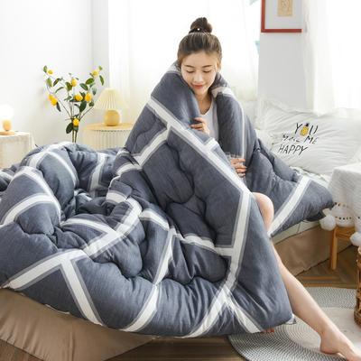 2020秋冬新品仿棉冬被被子被芯 150*200cm重3斤 灰色空间