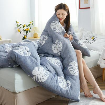 2020秋冬新品仿棉冬被被子被芯 150*200cm重3斤 飘飘叶
