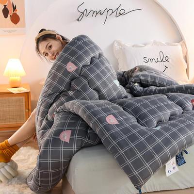 2020秋冬新品保暖针织棉印花冬被被子被芯 150*200cm重4斤 格林童话