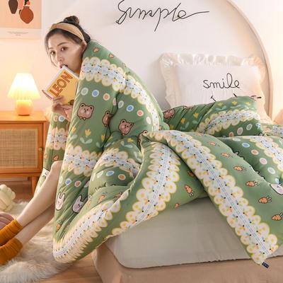 2020秋冬新品保暖针织棉印花冬被被子被芯 150*200cm重4斤 快乐时光
