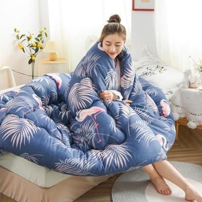 2020新款仿棉被子被芯冬被 150*200/3斤 蓝色火鸟
