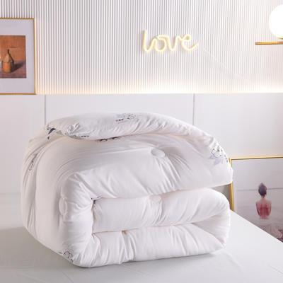 2020秋冬新品亲肤保暖暖绒棉冬被被子被芯 200X230cm重7斤 白