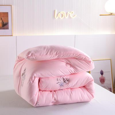 2020秋冬新品亲肤保暖暖绒棉冬被被子被芯 200X230cm重7斤 粉