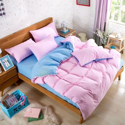 纯色床笠 180*200 粉色蓝