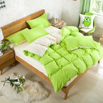纯色床笠 180*200 果绿米