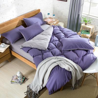 纯色床笠 180*200 烟熏紫