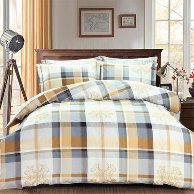 艾迪尚新款四件套-卷边床单款 枕套48*74cm*2 安吉里