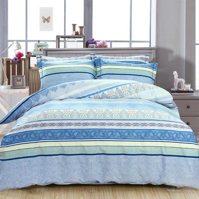 艾迪尚新款四件套-卷边床单款 枕套48*74cm*2 兰亭序