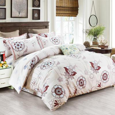 艾迪尚新款四件套-包边床单款 规格二 彼岸花开