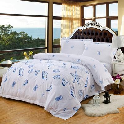 酒店风格单品-被套(绑带款) 160*210 海底世界