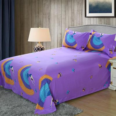 21支磨毛四件套系列(床单) 180cmx230cm 轻歌曼舞(紫)