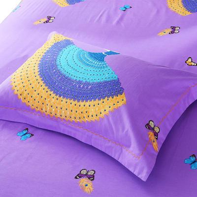 21支磨毛四件套系列(枕套) 48cmX74cm 轻歌曼舞(紫)