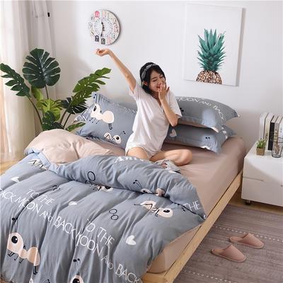 2018新款艾迪尚加厚斜纹水洗棉四件套-简约床单款 1.2m(床单款) 小蚂蚁