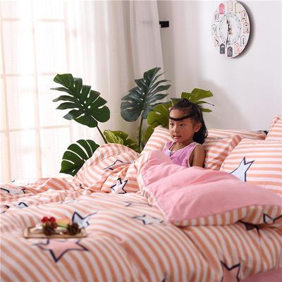 2018新款艾迪尚加厚斜纹水洗棉四件套-简约床单款 1.5m(床单款) 星光灿烂