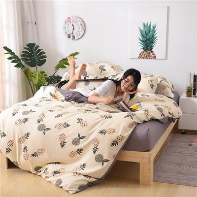 2018新款艾迪尚加厚斜纹水洗棉四件套-圆角床单款 1.5m(床单款) 菠萝蜜