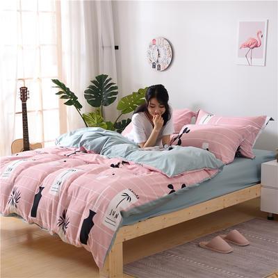 2018新款艾迪尚加厚斜纹水洗棉四件套-圆角床单款 1.5m(床单款) 度假村