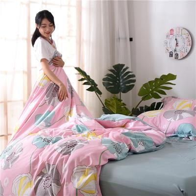 2018新款艾迪尚加厚斜纹水洗棉四件套-圆角床单款 1.5m(床单款) 花房姑娘