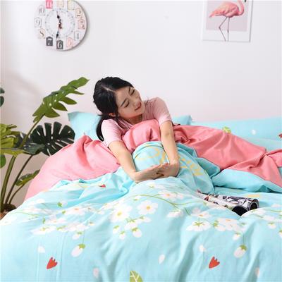 2018新款艾迪尚加厚斜纹水洗棉四件套-圆角床单款 1.5m(床单款) 三生三世十里桃花-兰
