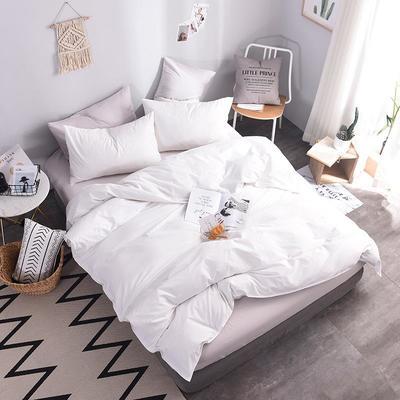 2018新款105克纯色双拼系列-单床笠 150cmx200cm 本白色
