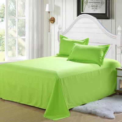 2018新款105克纯色双拼系列-单床单 160cmx230cm 纯色果绿
