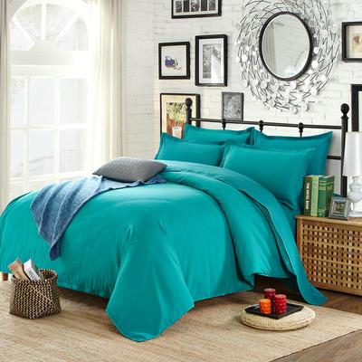 2018新款105克纯色双拼系列-单床单 160cmx230cm 纯色湖绿