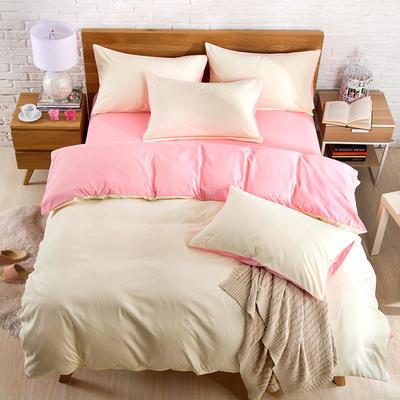 2018新款105克纯色双拼系列-单床单 160cmx230cm 奶白玉