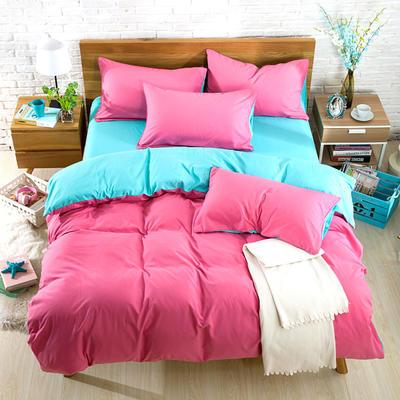 2018新款105克纯色双拼系列-单床单 160cmx230cm 胭脂绿