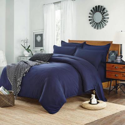 2018新款105克纯色双拼系列四件套 1.0m(3.3英尺)床 纯色卡其