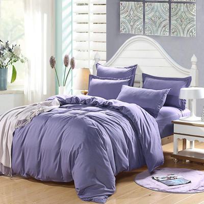 2018新款105克纯色双拼系列四件套 1.0m(3.3英尺)床 纯色烟熏