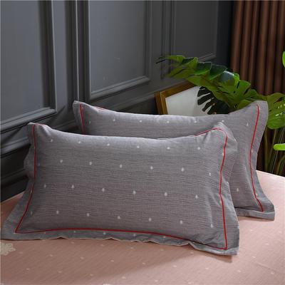 2019新款21支磨毛生态全棉系列-单枕套 48cmX74cm/对 亲密伙伴