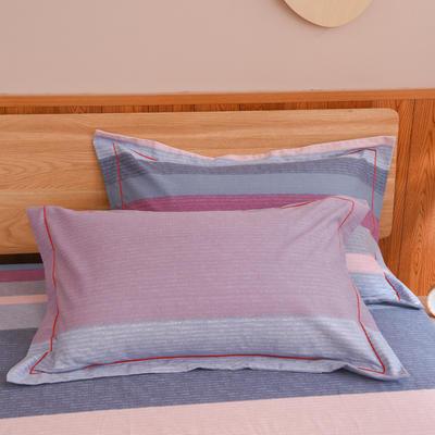 2019新款21支磨毛生态全棉系列-单枕套 48cmX74cm/对 条纹有序