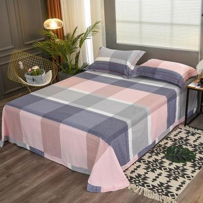2019新款21支磨毛生态全棉系列-单床单 180cmx230cm 方圆相融