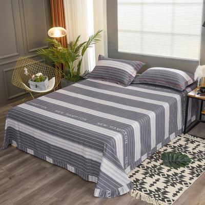 2019新款21支磨毛生态全棉系列-单床单 180cmx230cm 黑白相间