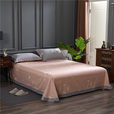 2019新款21支磨毛生态全棉系列-单床单 180cmx230cm 亲密伙伴