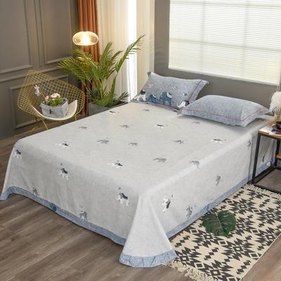2019新款21支磨毛生态全棉系列-单床单 180cmx230cm 森罗万象