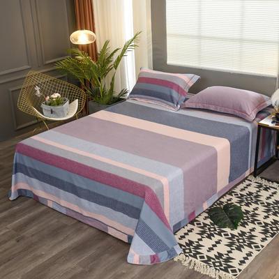 2019新款21支磨毛生态全棉系列-单床单 180cmx230cm 条纹有序